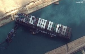 Suez Canal blockage reuters